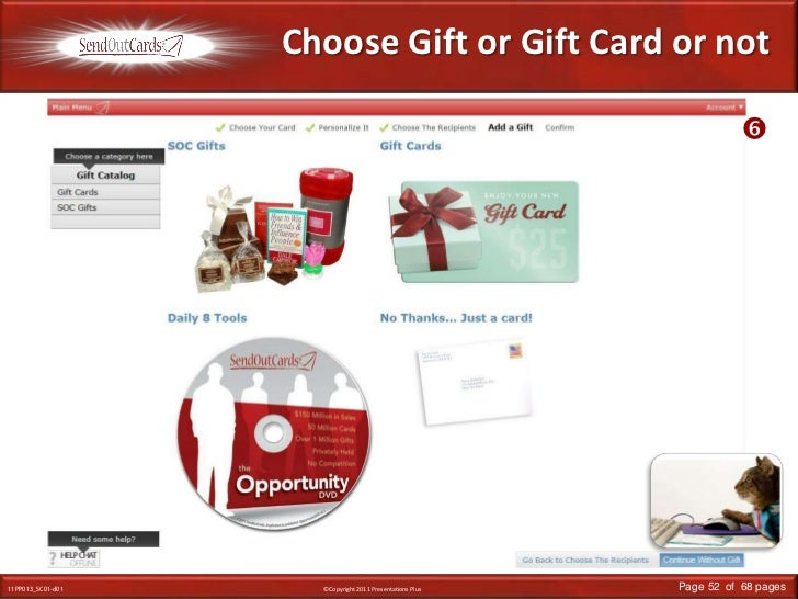 Choose Gift or Gift Card or not<br /><br />