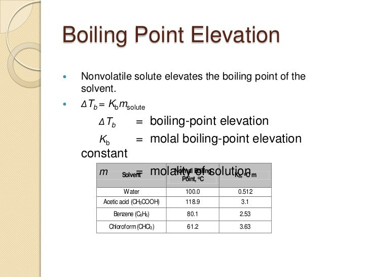 What is boiling point elevation?