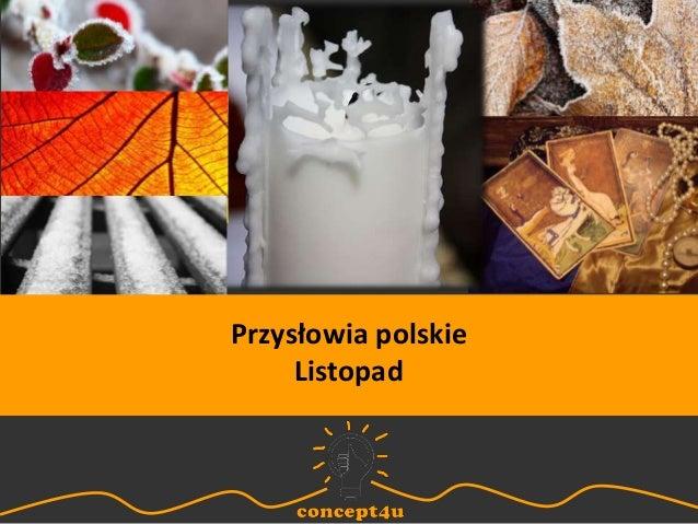 Przysłowia polskie Listopad