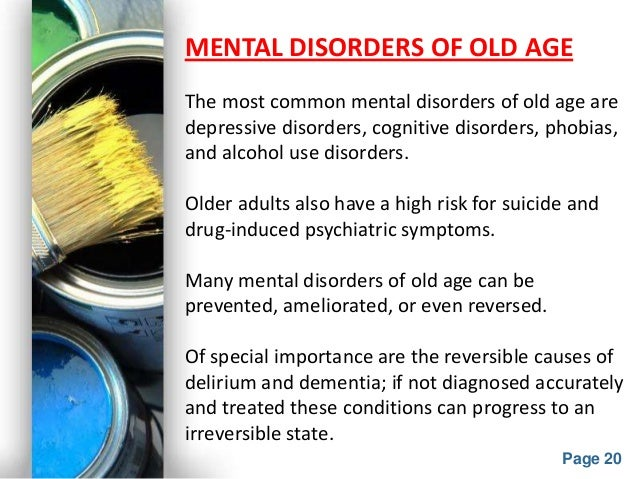 "a look at common mental disorders The connection between mental illness and reports that there is a ""definite connection between mental illness and the use of common disorders in."