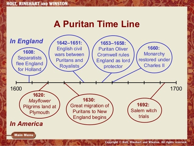 puritans ideas and values from 1630 1660 s God in america home watch online faithbook timeline interviews buy the dvd support provided by: comments tweet people & ideas: the puritans in 1630, the puritans set sail for america.
