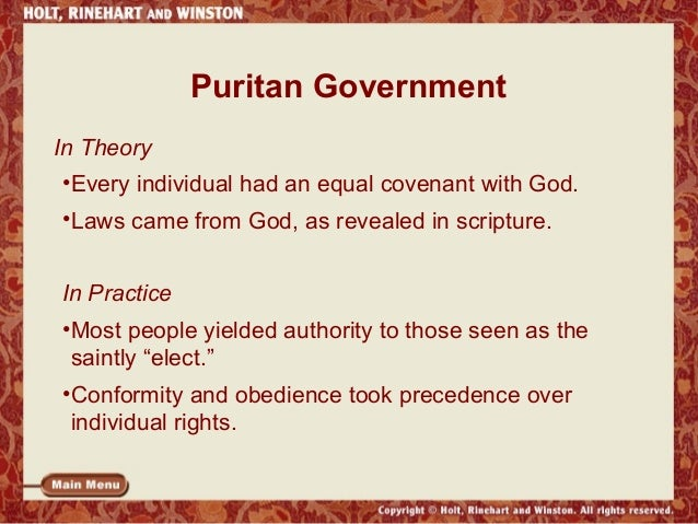 The puritan legacy for 6 characteristics of bureaucracy