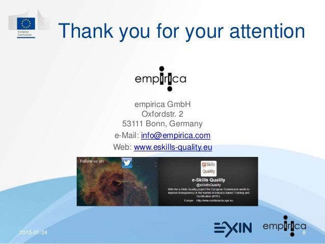 Thank you for your attention                        empirica GmbH                           Oxfordstr. 2                  ...