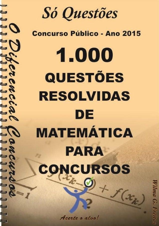 1000 Questões resolvidas de Matemática 1