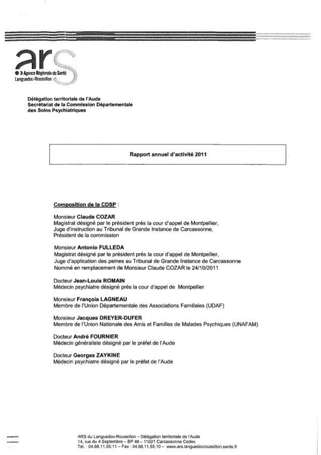 11 rapport activité cdsp 2011