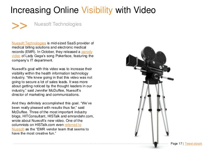Increasing Online Visibility with Video >>                        N u e s o fTechnologies o g i e s                       ...