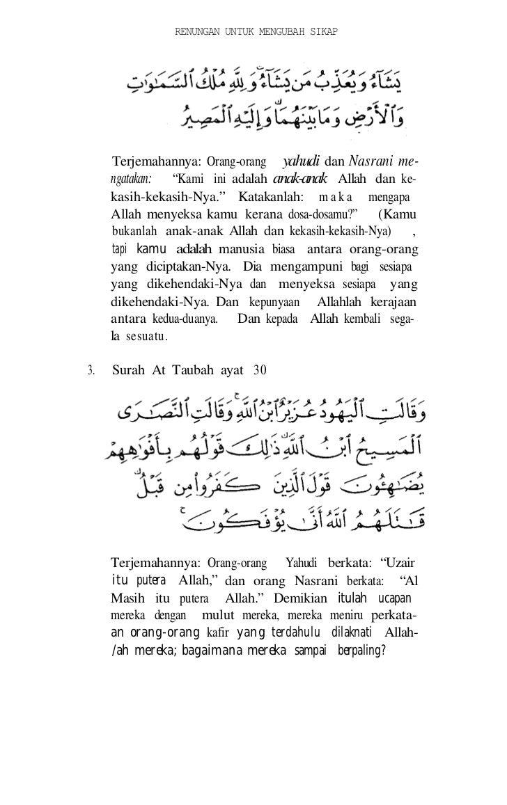 ISLAM AGAMA FITRAH   Tidak ada perubahan pada fitrah Allah. (itulah) aga-   ma yang lurus tetapi kebanyakan manusiu tidak ...