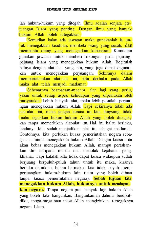 T   Terjemahannya: Apakah manusia itu menyangka baha-   wa sekali-kali tiada sesiapa pun yang berkuasa atasnya?   Dia meng...