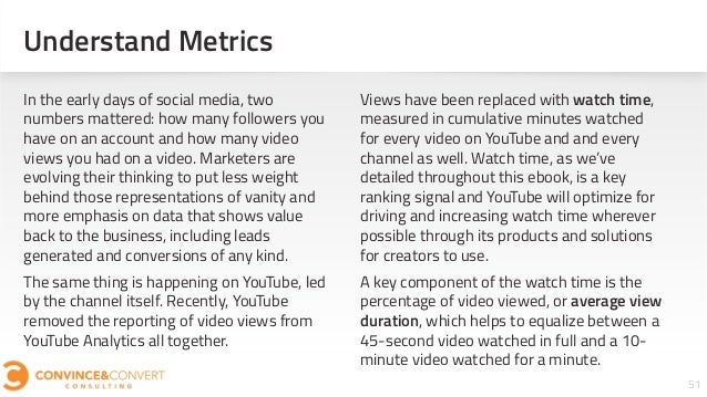 Understand Metrics 51 In the early days of social media, two numbers mattered: how many followers you have on an account a...