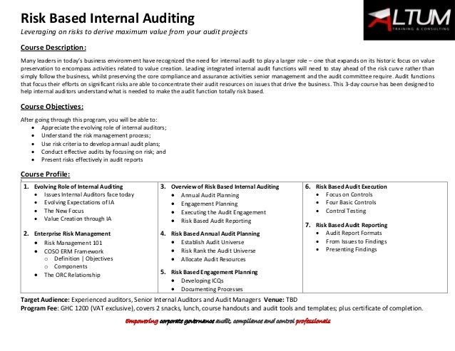 what is risk based auditing