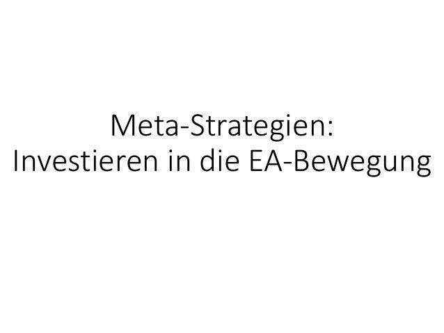 Meta-Strategien: InvestierenindieEA-Bewegung