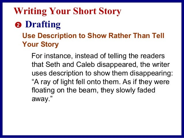 Writing Your Short Story 2 Drafting Organize the Events A natural way to organize events in a story is to use chronologica...