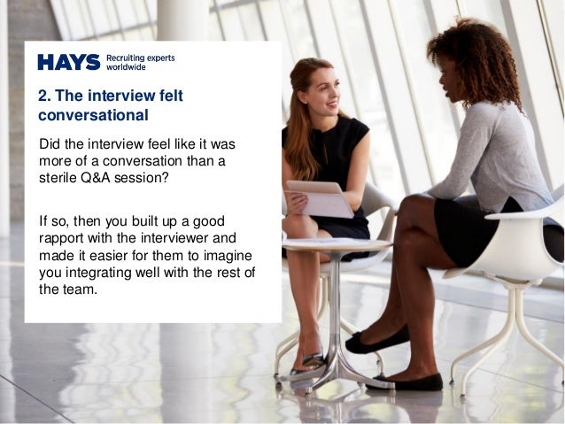 signs of a good interview