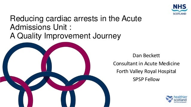 Reducing cardiac arrests in the Acute Admissions Unit : A Quality Improvement Journey Dan Beckett Consultant in Acute Medi...
