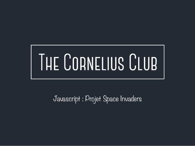 Javascript : Projet Space Invaders