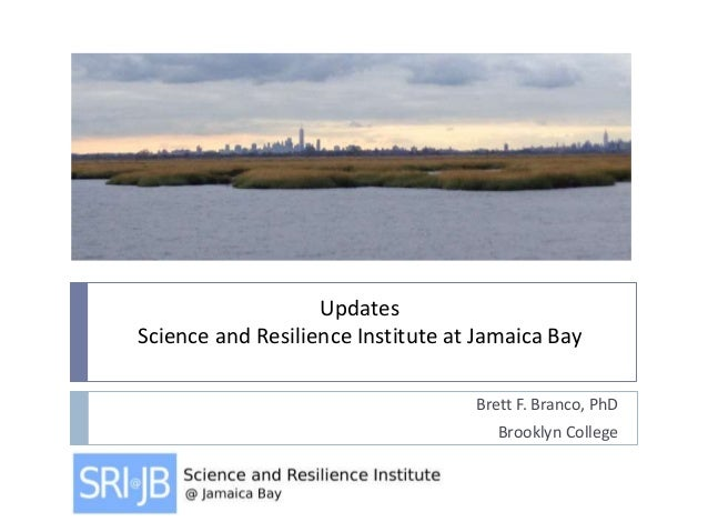 Updates Science and Resilience Institute at Jamaica Bay Brett F. Branco, PhD Brooklyn College