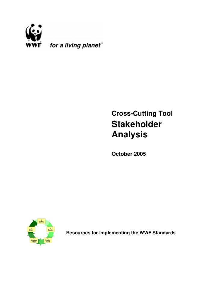 Cross-Cutting Tool                  Stakeholder                  Analysis                  October 2005Resources for Imple...
