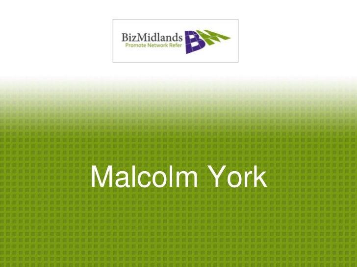 Malcolm York