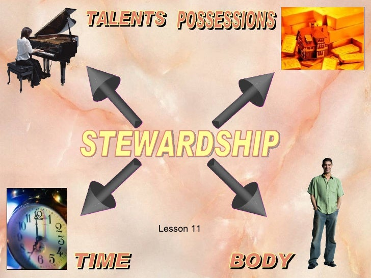 STEWARDSHIP TALENTS TIME BODY POSSESSIONS Lesson 11