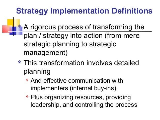 11 strategey implementation ppt