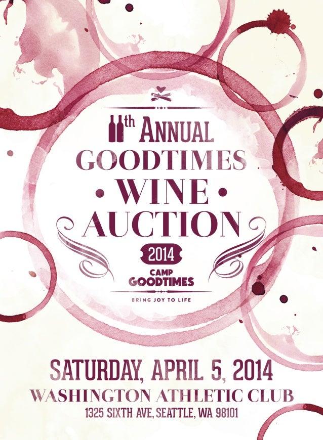 11th annual goodtimes wine auction invitation