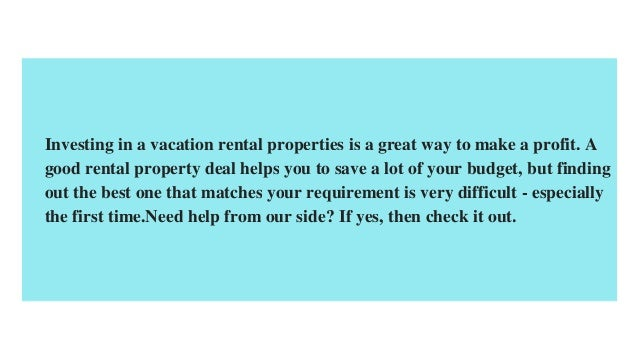 Things To Consider When Buying Vacation Rental Property