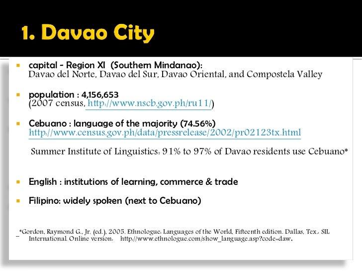 Filipino Variety of Davao (FVD): A Linguistic Description