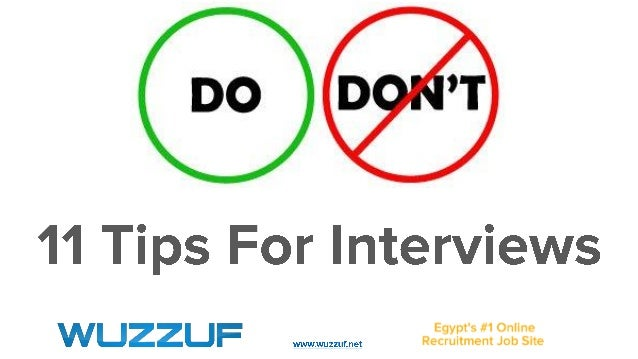 11 tips for interviews