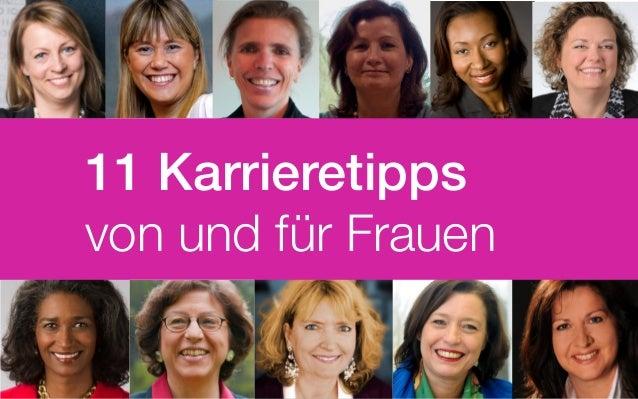 11 Karrieretipps von und für Frauen