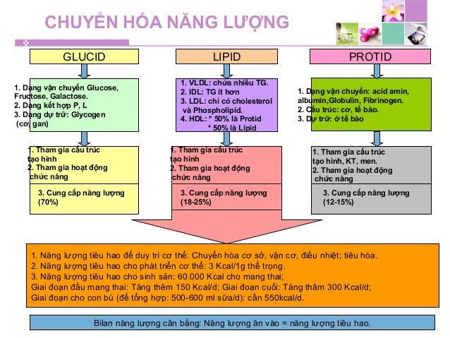 CHUYỂN HÓA NĂNG LƯỢNG GLUCID LIPID PROTID 1. Dạng vận chuyển Glucose, Fructose, Galactose. 2. Dạng kết hợp P, L 3. Dạng dự...