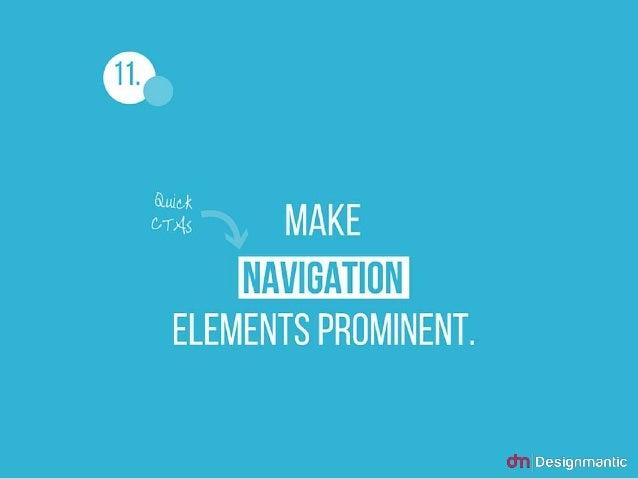 11. Make Navigation Elements Prominent.