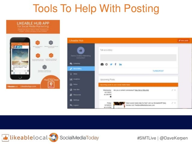 #SMTLive | @DaveKerpen Tools To Help With Posting