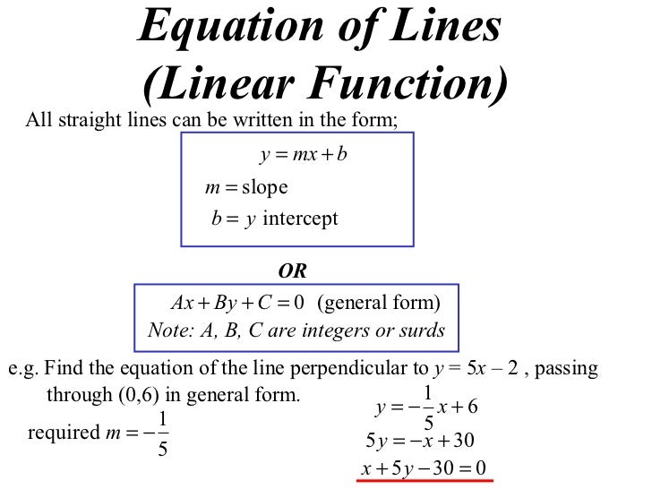 11 X1 T05 03 Equation Of Lines