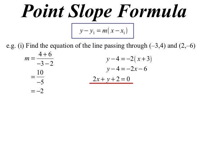 3 point slope formula  100 X10 T10 10 Point Slope Formula