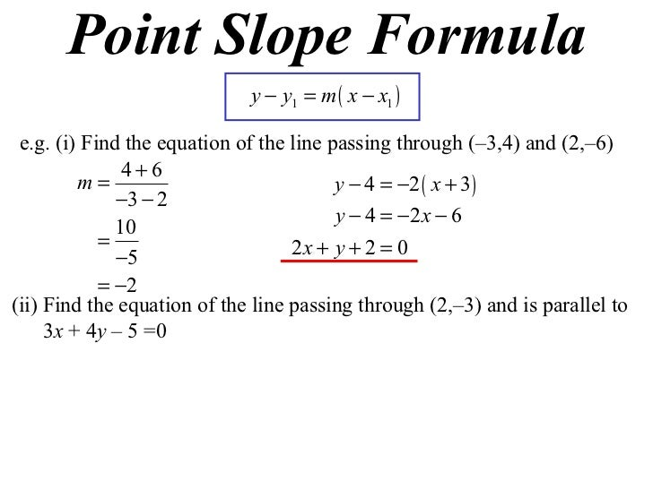how to find the slope of a graph formula