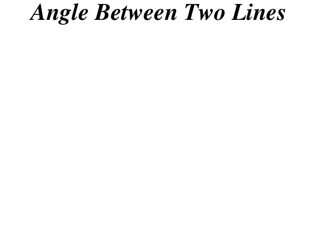 angle between two lines pdf