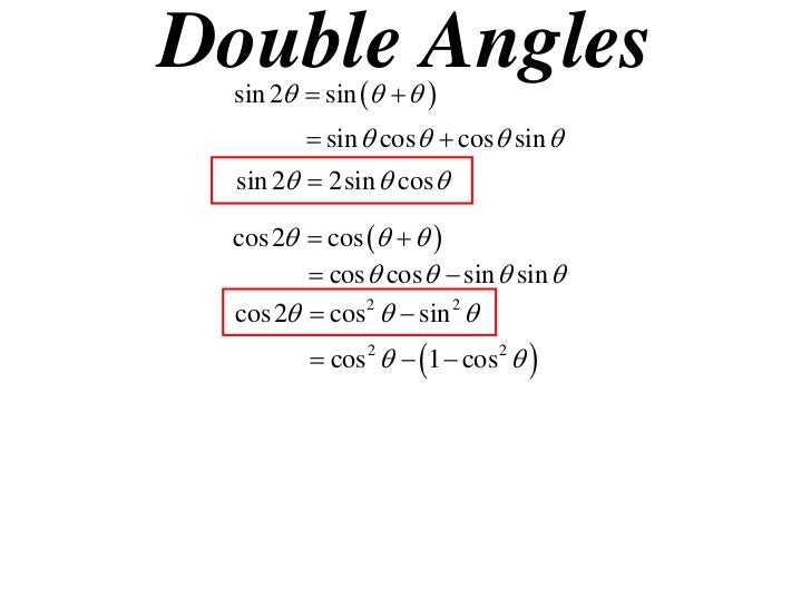 how to solve double angles