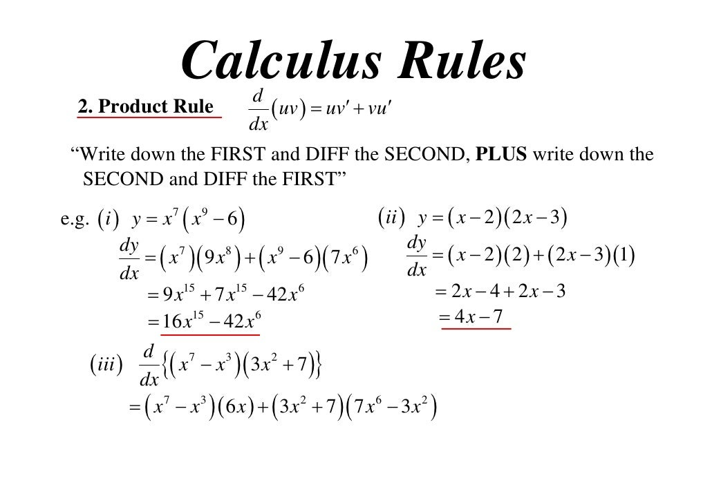 X T  Product Rule