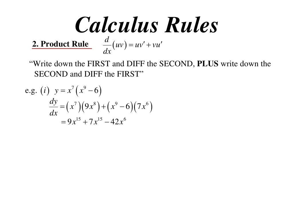 rule calculus t09 x1 rules uv dx 11x1 vu
