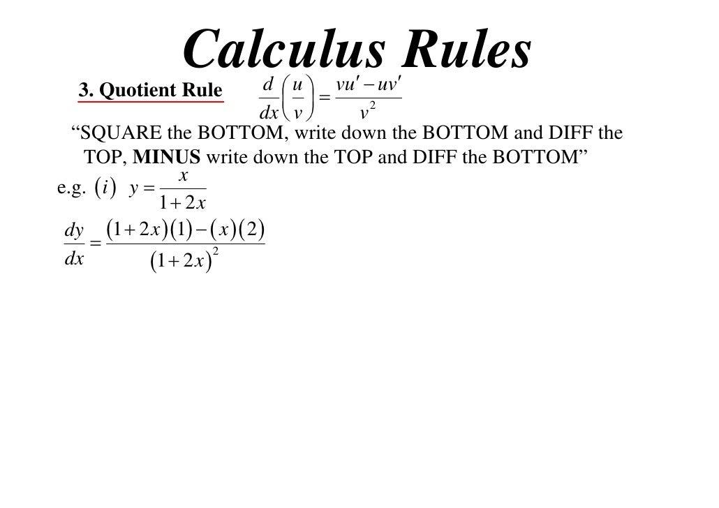 11 x1 t09 06 quotient & reciprocal rules (2012)