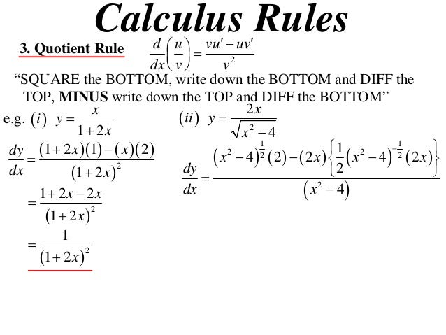 11 x1 t09 06 quotient & reciprocal rules (2013)