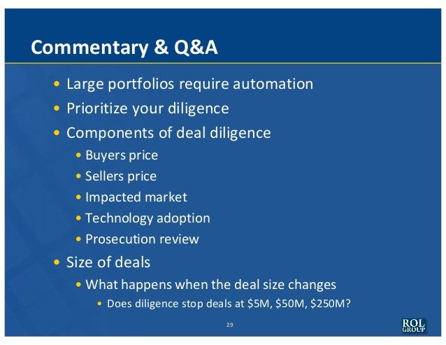 IP Driven M&A - Diligence