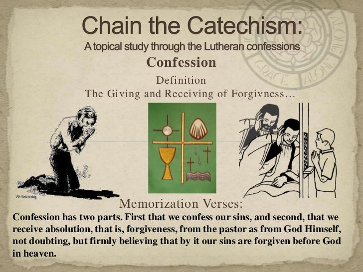 Confession Definition ...