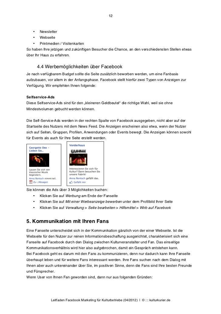 12    •    Newsletter    •    Webseite    •    Printmedien / VisitenkartenSo haben Ihre jetzigen und zukünftigen Besucher ...