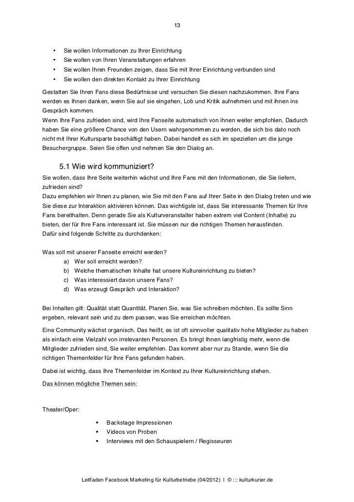 13    •    Sie wollen Informationen zu Ihrer Einrichtung    •    Sie wollen von Ihren Veranstaltungen erfahren    •    Sie...