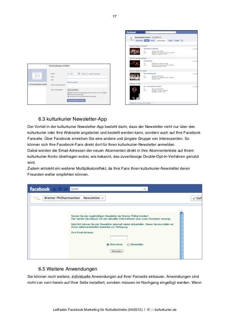17        6.3 kulturkurier Newsletter-AppDer Vorteil in der kulturkurier Newsletter-App besteht darin, dass der Newsletter...