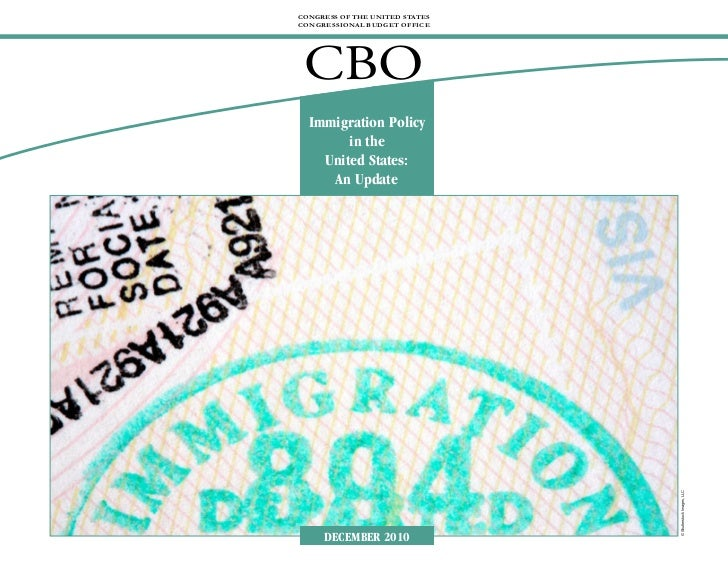 Immigration Policy in the United States: An Update