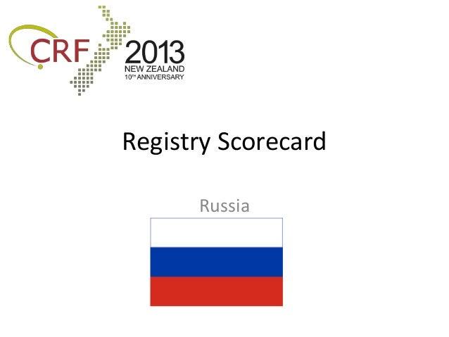 Registry Scorecard      Russia