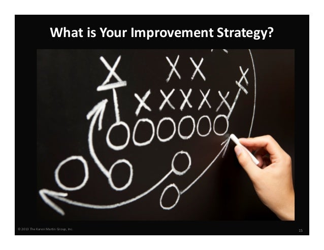 What is Your Improvement Strategy?  © 2013 The Karen Martin Group, Inc.  15