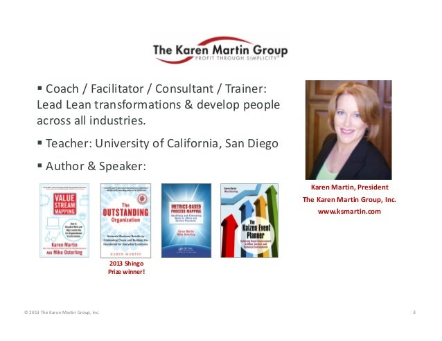  Coach / Facilitator / Consultant / Trainer:  Lead Lean transformations & develop people  across all industries.  Teache...